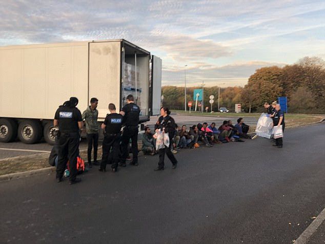 Police find 15 illegal immigrants hidden in lorry in Kent ...