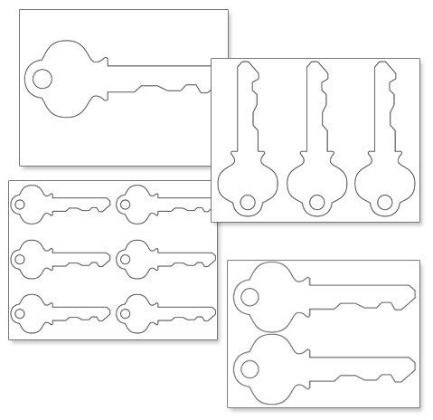 Printable Key Shape Template   Projects to Try   Pinterest   Shape ...