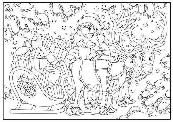 Coloriage Noël Le Traîneau Plein De Cadeaux Coloriage Noel