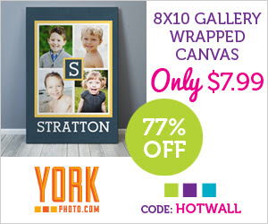 8X10 Gallery Wrapped Canvas – Only $7.99 -  Save $27!
