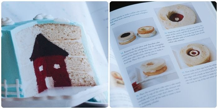 house cake from Surprise-Inside Cakes: book review & giveaway