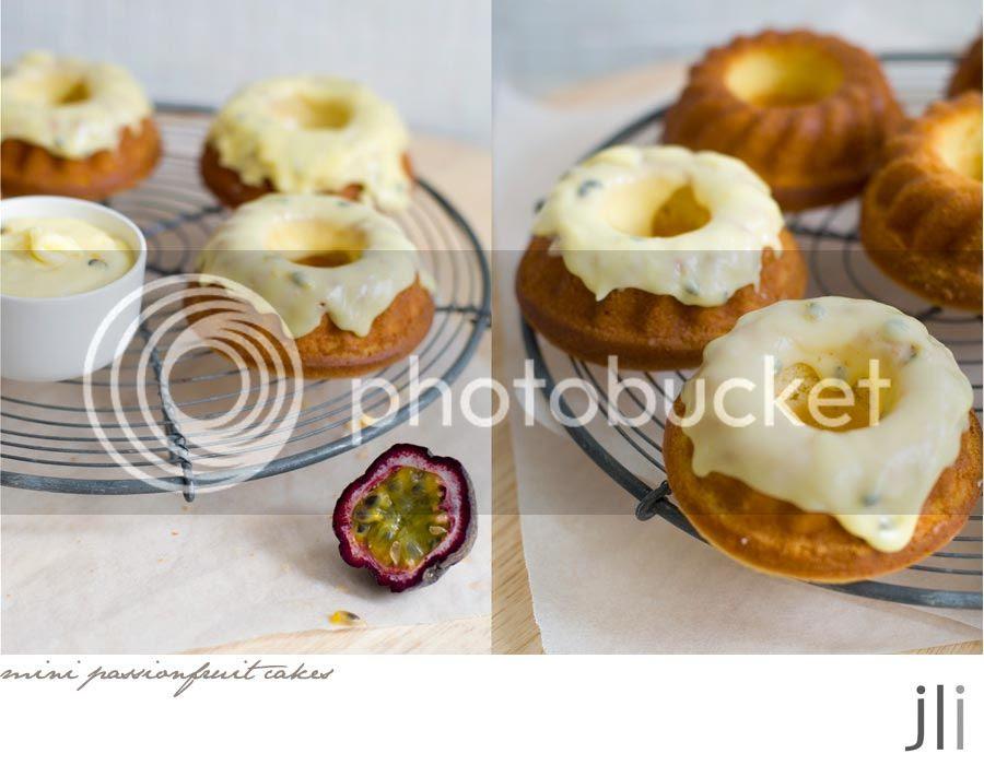 mini passionfruit cakes