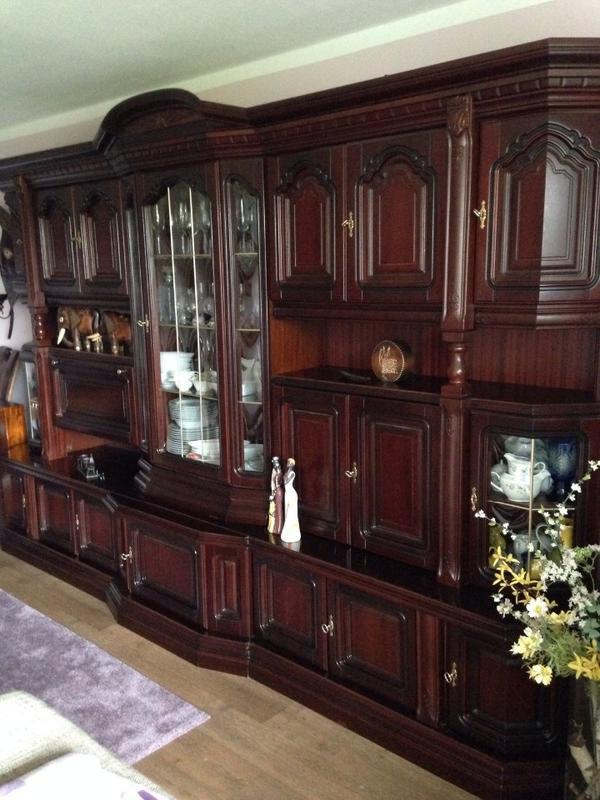 edle massivholz wohnwand in fürth  wohnzimmerschränke