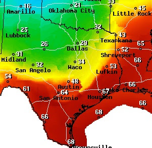 Weather In Texas Map Dallas Texas Weather Map | Time Zone Map