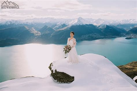 Snowy Winter Wedding on The Ledge in Queenstown