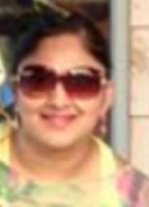 Arrest: In a separate raid, left, Kuntal Patel (pictured), 36, the daughter of an east London magistrate, has been charged with attempted murder