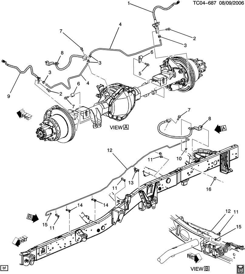 1997 ford ranger brake line diagram