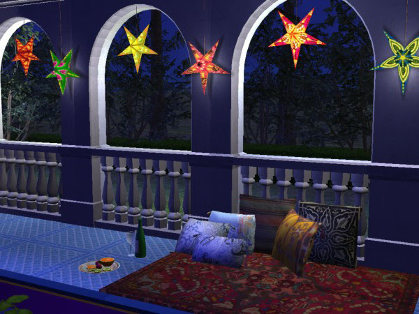 Mod The Sims - Festive paper star lamps