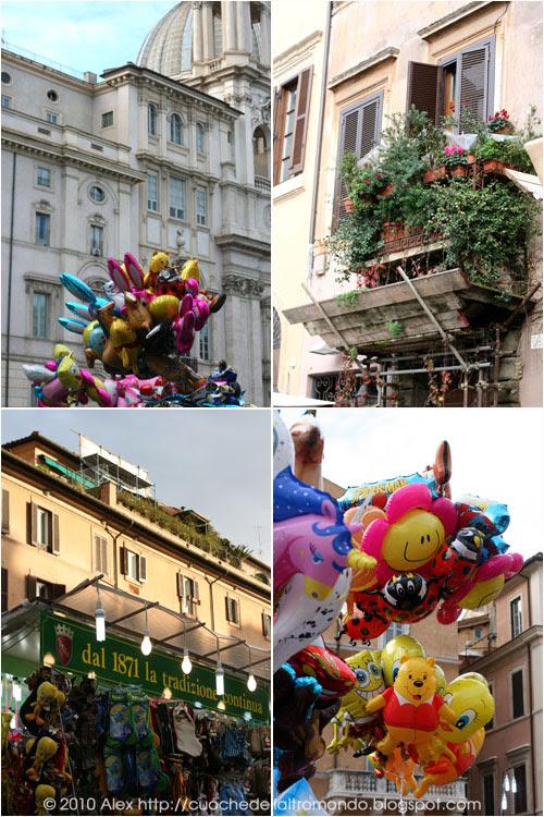 Piazza e palloncini