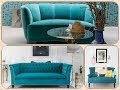 Turquoise Color Living Room