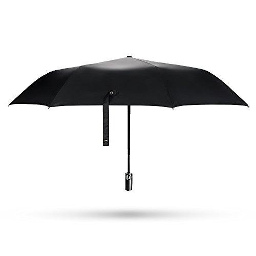 E-PRANCE® 自動開閉折り畳み傘 ワンタッチ自動開閉 撥水性 シンプル8本骨 118cm ブラック