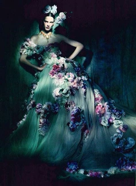 Dolce & Gabbana Strapless Gown Coupled With The Blossoms
