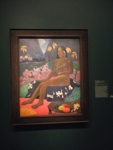 DSCN5627 _ The Seed of the Areoi, 1892, Paul Gauguin, NY MOMA at De Young