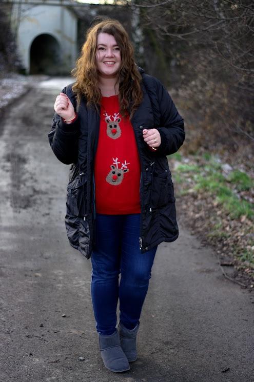 Große Größen Plus Size Fashion Blog reindeer pullover