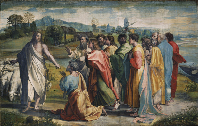 V&A_-_Raphael,_Christ's_Charge_to_Peter_(1515).jpg (768×489)