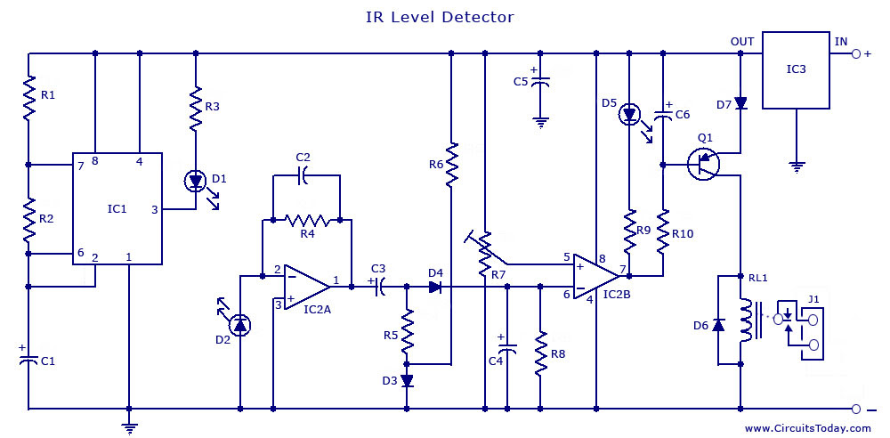 Leakage Detection Using Infra Red Circuit Diagram