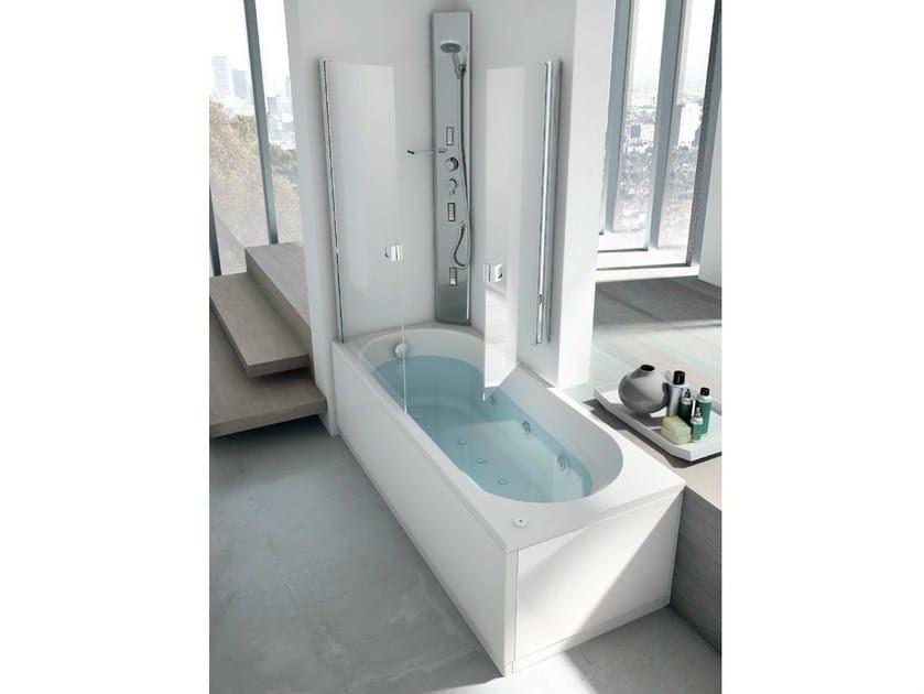 Vasca da bagno angolare idromassaggio con doccia LINEA ...