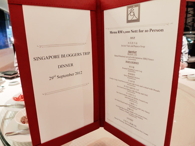 ming ren resturant menu genting