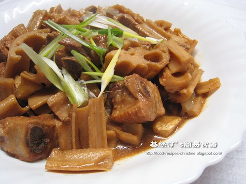 蓮藕炆腩排 Stewed Lotus with Pork Ribs