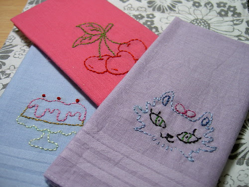 Stitched handkerchiefs
