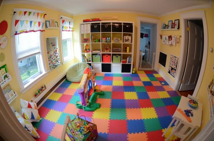 Kerry's Papercrafts jigsaw flooring child's room