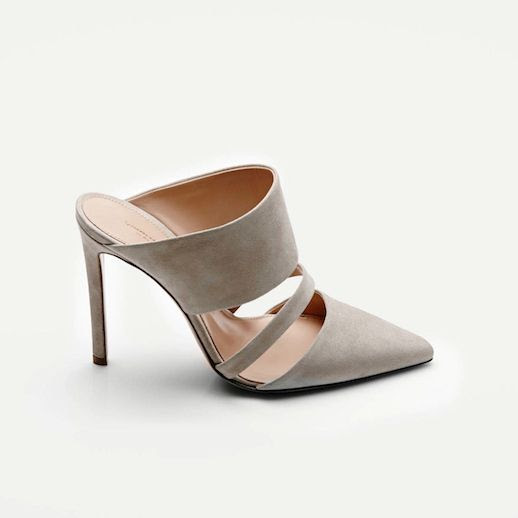 LE FASHION BLOG SHOE CRUSH ALTUZARRA MULE THE LINE SHELL TAN NUDE SUEDE BANDED HEELED MULE PUMPS VANESSA TRAINA SPRING SUMMER SS 2014 5 photo LEFASHIONBLOGSHOECRUSHALTUZARRAMULETHELINE5.jpg