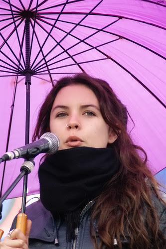 Camila Vallejo, Paraguazo por la educación. by Manuel Venegas