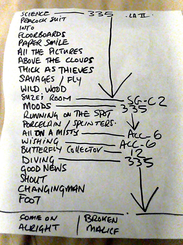 set list paul weller @ the avalon, 4 february 2007