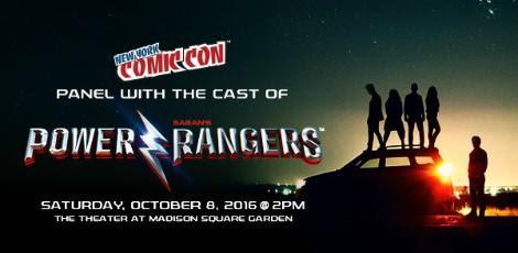 Filme Power Rangers terá um painel na New York Comic Con / Reprodução