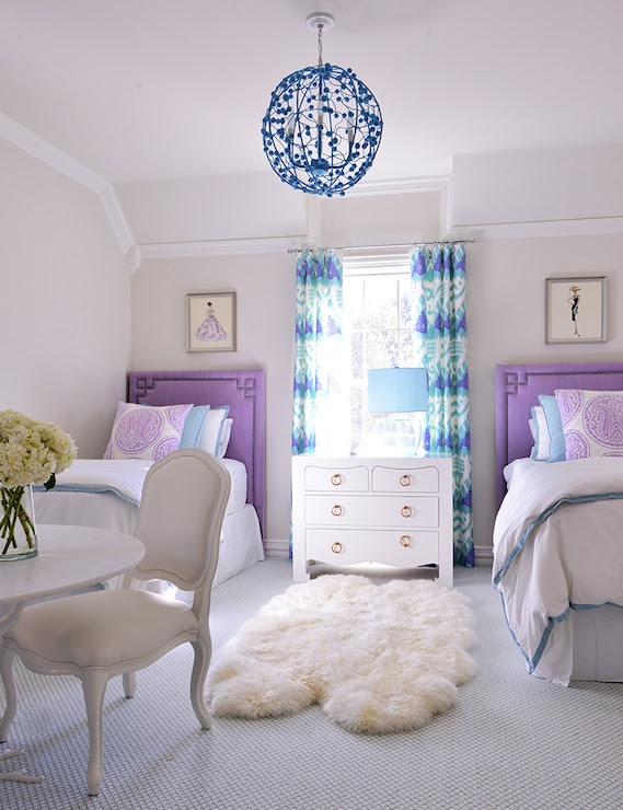 Greek Key Headboard - Contemporary - girl's room - Tracy ...