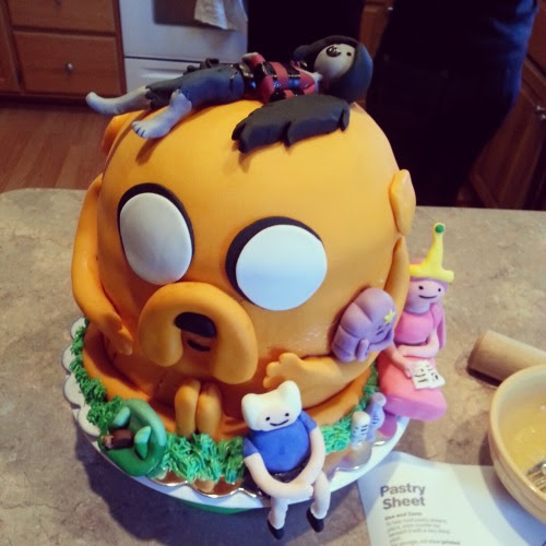 Adventure Time cake my sister and I made!
