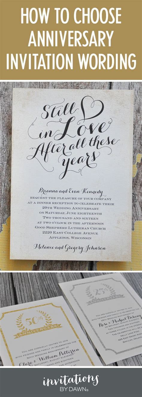 Finding the Right Wedding Anniversary Invitation Wording
