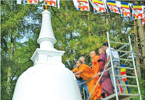 First ever Buddhist Stupa in Germany set up