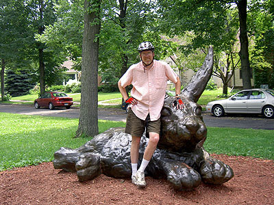 Matt and Huge Bunny