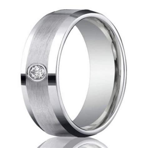 6mm Men?s 950 Platinum Single Diamond Wedding Ring