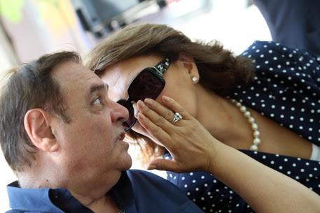 Clemente Mastella con la moglie Sandra Lonardo (foto: ANSA )