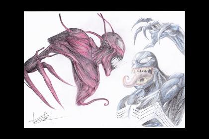 Venom Vs Carnage Dibujo