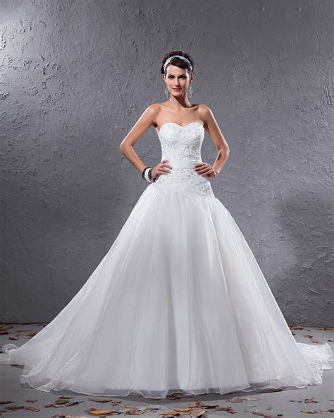 White Wedding Dresses With Lace   Dresscab