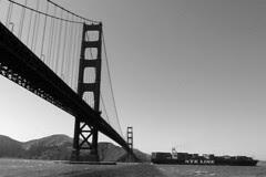 Golden Gate Bridge 75th Anniv - Bridge and ship