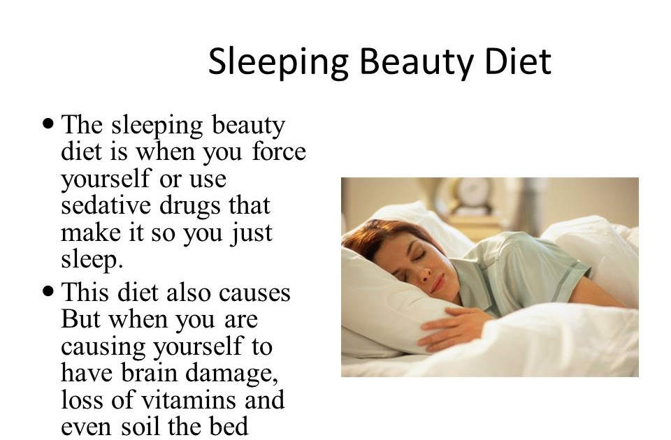 what does the sleeping beauty diet do