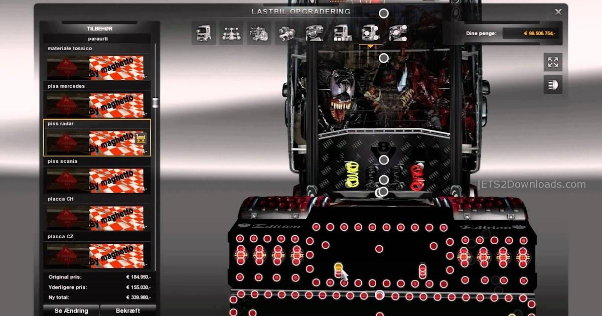 ETS 2 Scania V8 Tuning Mod ~ Euro Truck Simulator 2 Mods