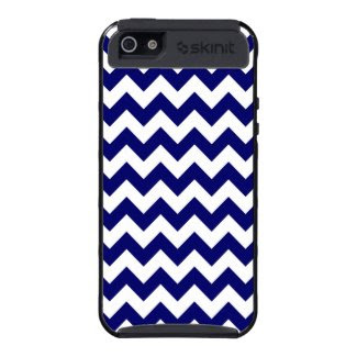 Navy and White Zigzag Case For iPhone 5