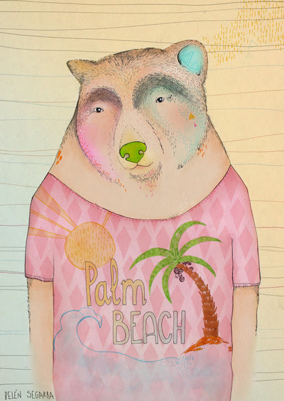 Bear (Palm Beach) Art Print