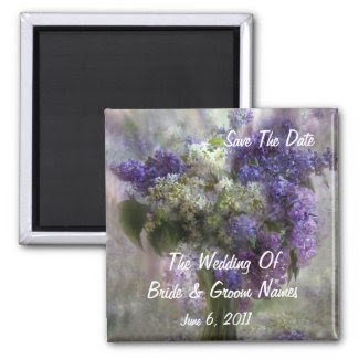 Lilacs Of Love Save-The-Date Wedding Magnet magnet