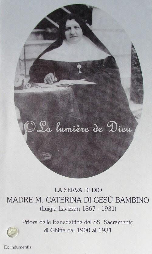 Maria Caterina di Gesù Bambino (Luigia Maria Elisabetta Lavizzari)