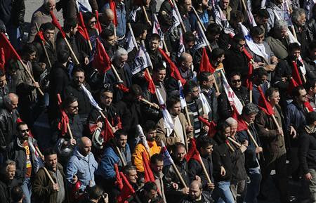 Greek workers go on another general strike against austerity on Feb. 20, 2013. People shut down the country due to the capitalist crisis. by Pan-African News Wire File Photos