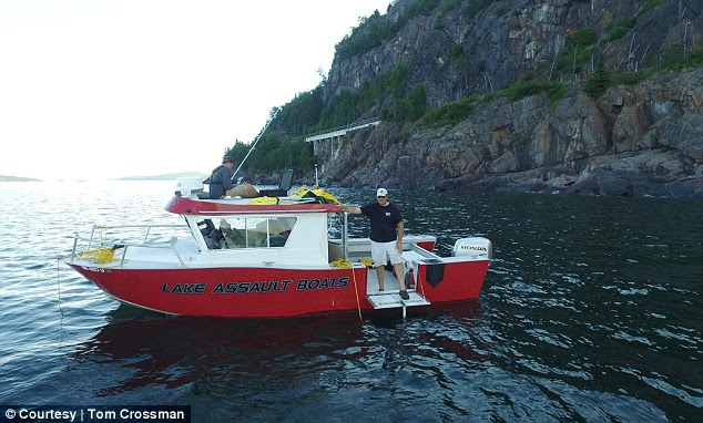 Explorers: Tom Crossman's team (pictured) found the boat using remote-controlled vehicles