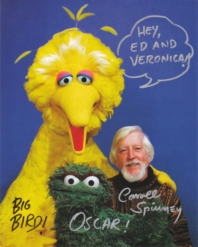 Carrol Spinney Sesame Street Big Bird Oscar muppet autograph