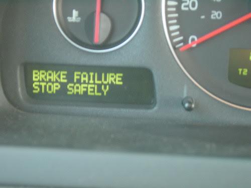 brake failure stop safely