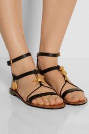 ValentinoAbyss embellished leather sandals